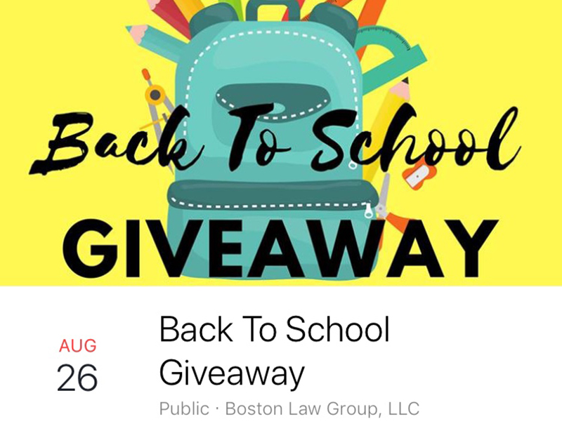 First Annual Back To School Giveaway
