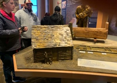 Model of slave home