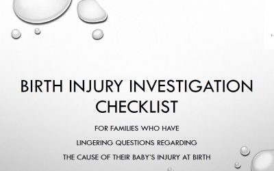 A Checklist For HIE And Other Birth Injury Concerns